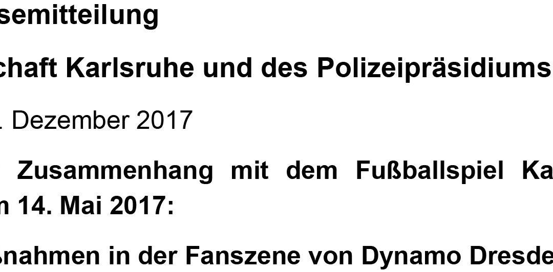 Gemeinsame Pressemitteilung der Staatsanwaltschaft Karlsruhe und des Polizeipräsidiums Karlsruhe