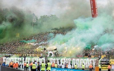 Die Karlsruher Polizei führt große Razzien bei Dresden-Fans durch
