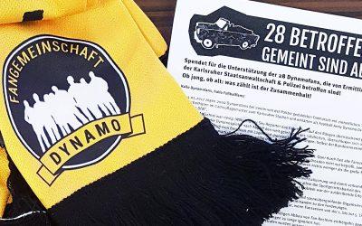 Fangemeinschaft unterstützt mit Skatturnier und Seidenschal das Solidaritätskomitee Dynamo